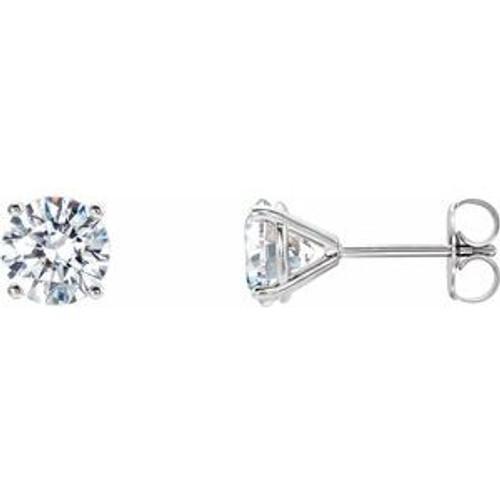 14K Gold 1 1/2 CTW Lab-Grown Diamond 4-Prong Stud Earrings