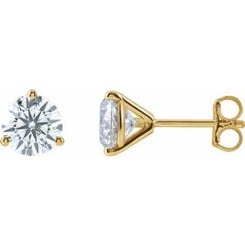 14K Gold 2 CTW Lab-Grown Diamond Stud Earrings