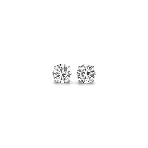 14K White Gold Certified Lab Created Diamond Stud Earrings (1/2 ct. tw.)