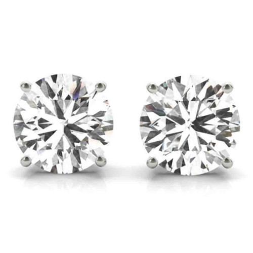 14K White Gold Certified Lab Created Diamond Stud Earrings (3 ct. tw.)