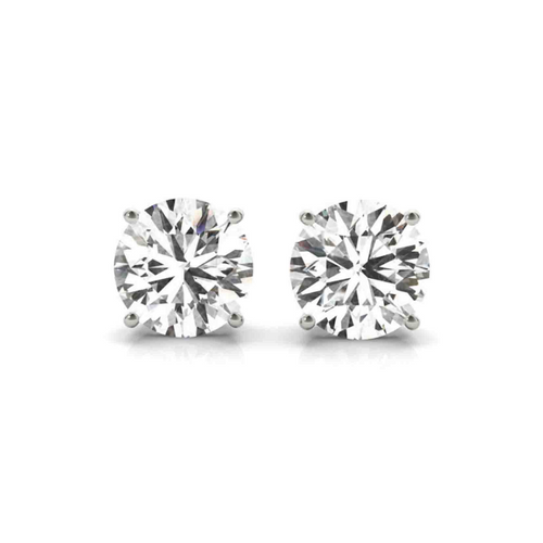 14K White Gold Certified Lab Created Diamond Stud Earrings (2 ct. tw.)