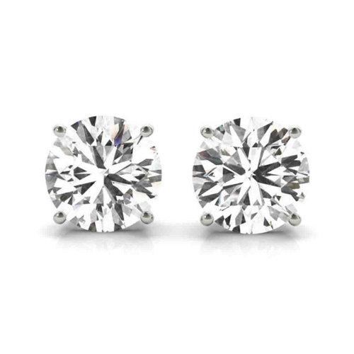 14K White Gold Certified Lab Created Diamond Stud Earrings (2 1/2  ct. tw.)