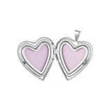 9ct White Gold Small Butterfly Heart Locket