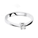 9ct White Gold 0.10ct Diamond Solitaire Ring