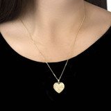 9ct Gold Large Love Heart Locket Necklace