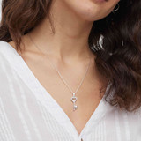 Silver Key To My Heart Necklace
