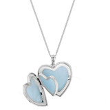 Sterling Silver 4 Picture Family Heart Locket