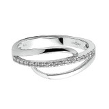 9ct White Gold Diamond Crossover Ring 1
