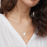 Silver Rose Gold & Mother of Pearl Pendant