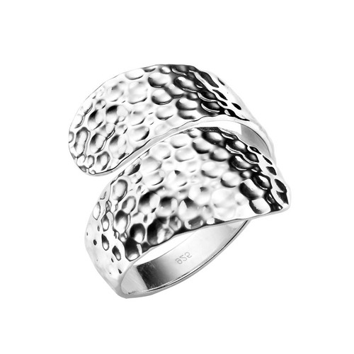 Sterling Silver Hammered Wrap Around Ring
