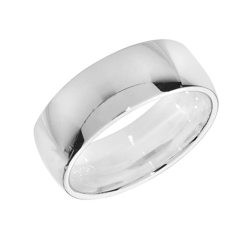 Men's Sterling Silver Wedding Band Ring 7mm