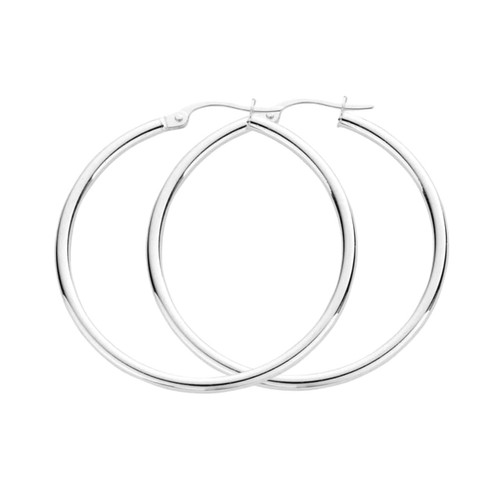 Sterling Silver Classic Hoop Earrings 30mm