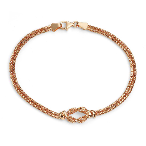 9ct Yellow Gold Rope Knot Bracelet