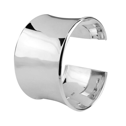 Sterling Silver Wide Solid Cuff Bangle