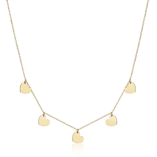 9ct Gold Chain of Hearts Necklace