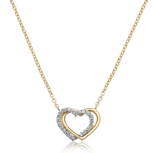 9ct Gold Linked Hearts Necklace