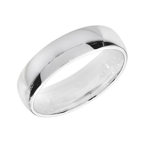 Sterling Silver Wedding Band Ring 5mm