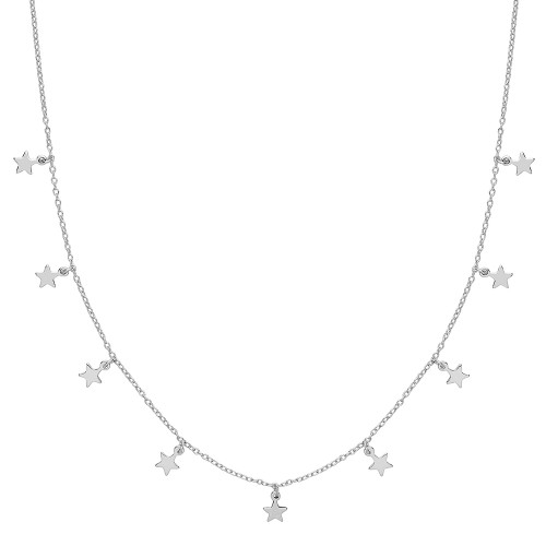 Silver Star Charm Necklace