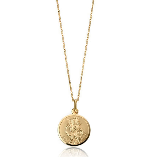 Women's 9ct Gold St Christopher Pendant 2