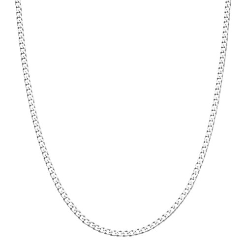 Men's Solid Silver Curb Chain Necklace 3mm