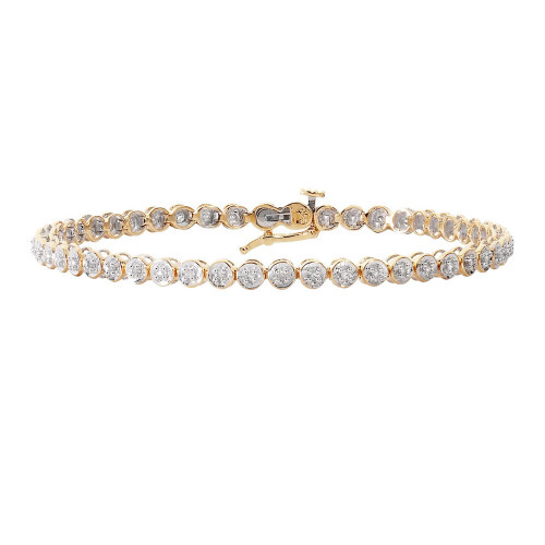 9ct Gold 0.25ct Diamond Tennis Bracelet