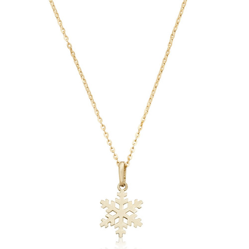 9ct Gold Snowflake Necklace