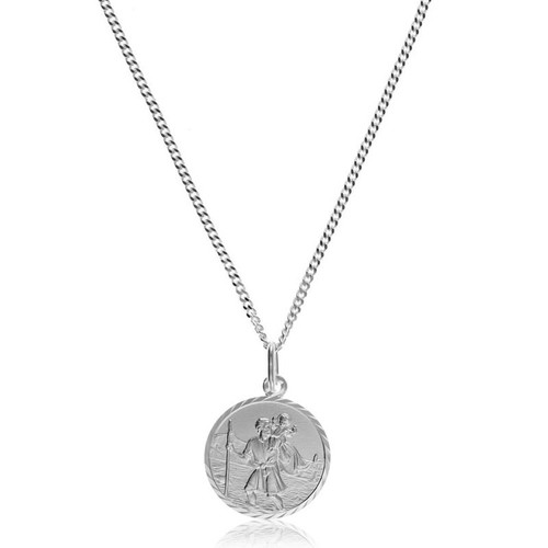Children's Silver Small St Christopher Pendant