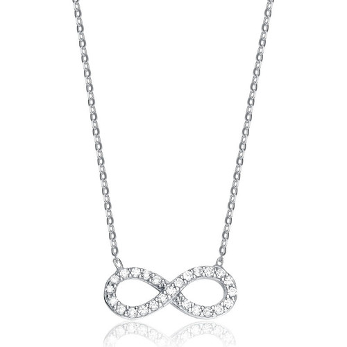 9ct White Gold Cubic Zirconia Infinity Necklace
