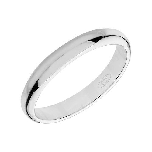 Sterling Silver Wedding Band Ring 3mm