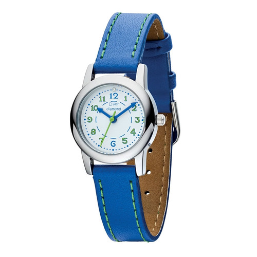 Children's Blue Leather Diamond Watch