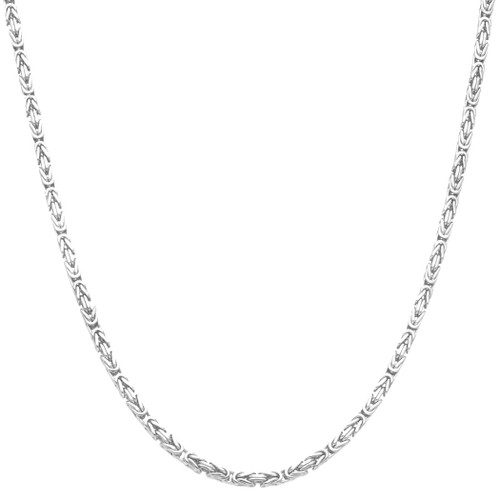Men's Solid Silver Byzantine Kings Chain 3mm