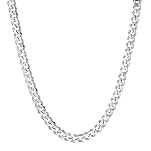 Men's Solid Silver Curb Chain Necklace 7mm