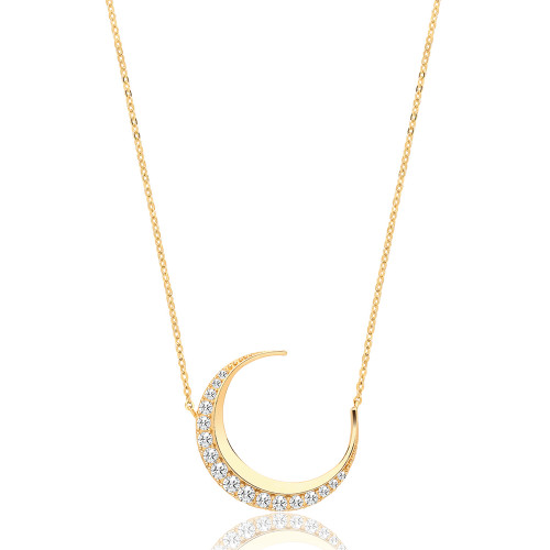 Theia Collection | 9ct Gold Luna Moon Necklace
