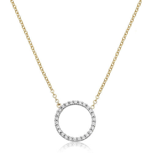 9ct Gold Cubic Zirconia Eternal Circle Necklace