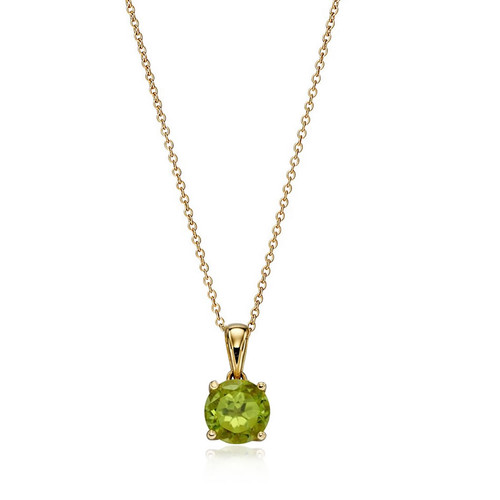 9ct Gold Peridot August Birthstone Pendant