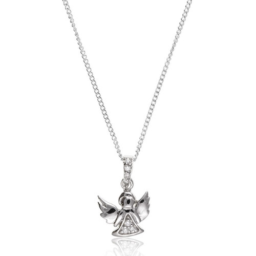 Children's Silver Guardian Angel Necklace