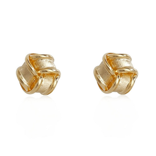 9ct Gold Satin Knot Stud Earrings
