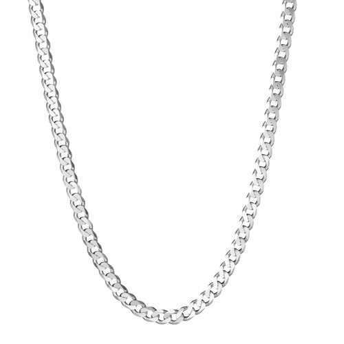 Men's Solid Silver Curb Chain