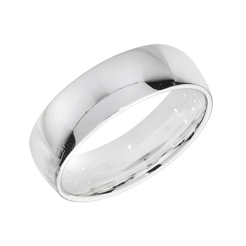 Sterling Silver Wedding Band Ring 6mm