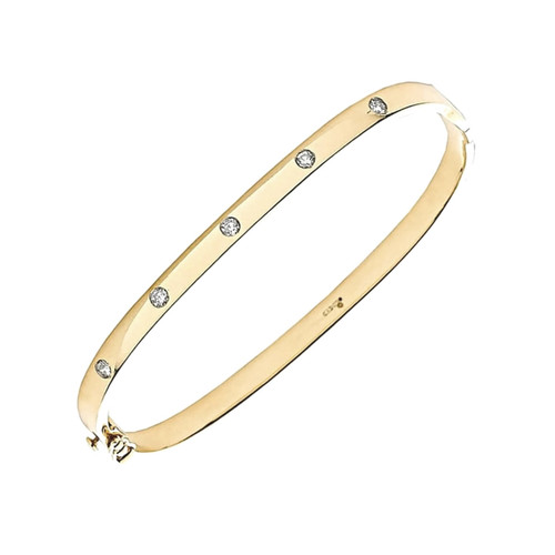9ct Gold 0.20ct Diamond Bangle