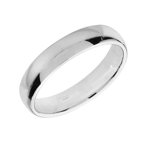 Sterling Silver Wedding Band Ring 4mm