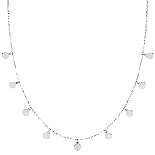 Sterling Silver Discs Necklace