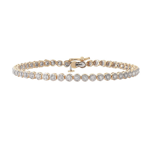 9ct Gold 1.00ct Diamond Tennis Bracelet