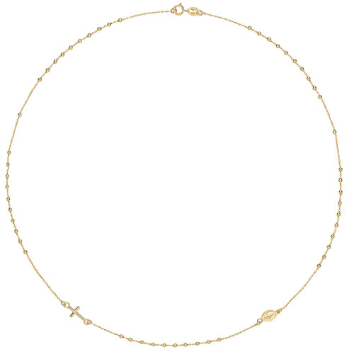 9ct Gold Delicate Beaded Rosary Chain