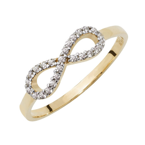 9ct Gold Cubic Zirconia Forever Infinity Ring