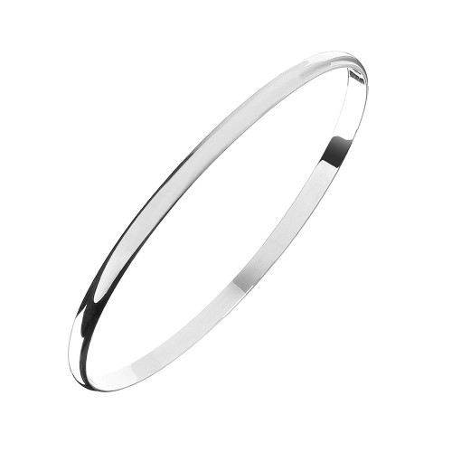 Sterling Silver Solid Pain Bangle 4mm
