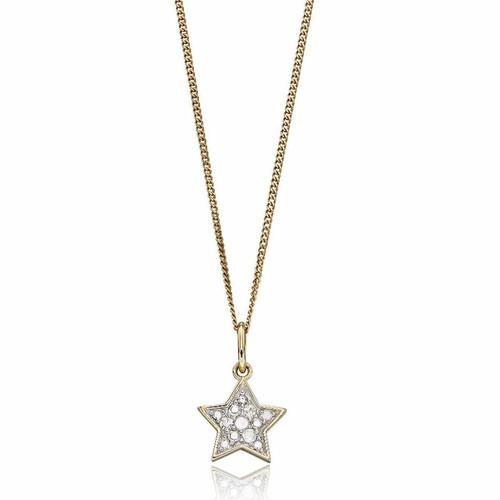 9ct Gold Diamond Star Necklace