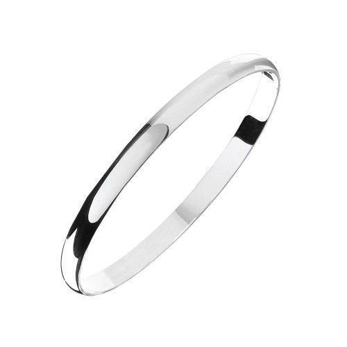 Sterling Silver Solid Bangle 6mm