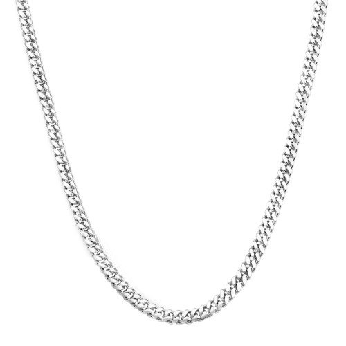 Men's Solid Silver Cuban Link Chain