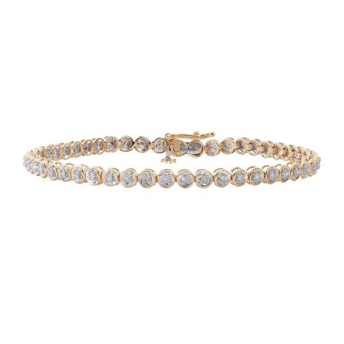 9ct Gold 0.50ct Diamond Tennis Bracelet